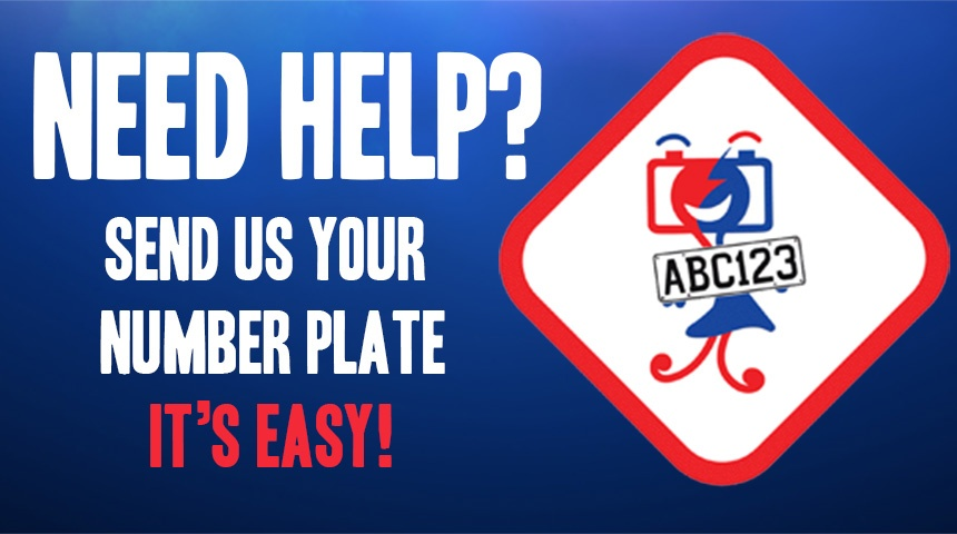 Send your number plate and we will help